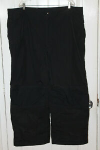 Lands End Women's Size 2XL 20 22 w Waterproof Insulated Black Snow Ski Pants NWT