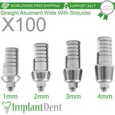 100 Straight Shoulder Abutment For Wide Platform, Dental Implant, Internal Hex