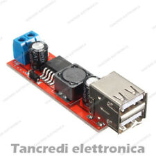 Convertitore DC-DC step down Dual USB 5V 3A doppia uscita 2 porte caricabatteria