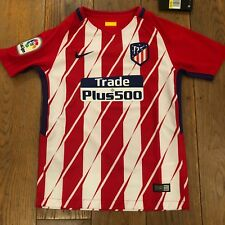 Maillot NIKE ATLETICO MADRID STADIUM Home Junior Rouge & Blanc S 8/10 Ans Neuf
