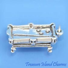 HEAVY BILLIARD POOL TABLE 3D .925 Solid Sterling Silver Charm MADE IN USA