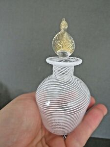 Vintage Murano Glass Gold Flake Perfume Bottle