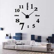 Huge Wall Clock Home Decoration Gadget Accessories Big Sticker DIY Room Decor