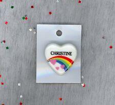 Rainbow & Hearts Fashion Pin Brooch Personalized CHRISTINE - Stocking Stuffer