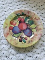 MONACO HAND DECORATED IN ITALY FRUIT PLATE CHERRIES