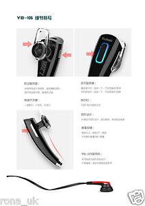 Yoobao Black Bluetooth Handsfree Headset Earphone DUAL for Smartphones