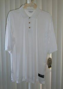 Polo Shirt Short Sleeve Gold's Gym White Size XL