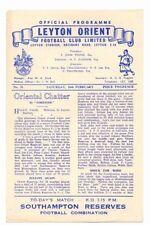 Leyton Orient Football Reserve Fixture Programmes (1950s)