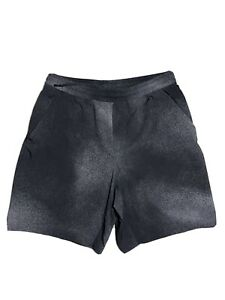 """Lululemon Men's Pace Breaker Shorts 9"""" Large Lined Running Black Asphalt Gray"""