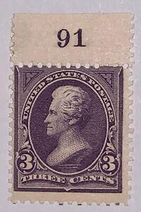 Travelstamps: 1895 US Stamps Scott # 268 3c Jackson Mint Original Gum NH