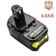 18V 4.0AH For Ryobi One+ Plus P108 Lithium Battery P104 P105 P102 P103 P107 MP