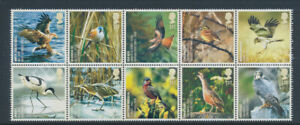 2007 MNH 10 Stamp Set - BIRDS - UK Species in Recovery - 1st Class - England