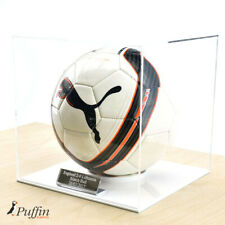 More details for acrylic football display case - white base