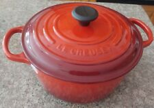 Williams-Sonoma RED Le Creuset Signature Cast Iron Round Dutch Oven 3.5-Qt NEW