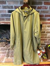 Vintage PATAGONIA ORIGINAL RAIN TRENCH XL DUSTER STYLE LONG COAT w/ HOOD