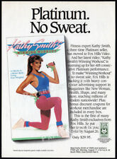 KATHY SMITH : Winning Workout__Original 1987 Trade print AD / fitness promo