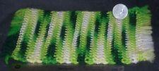Yellow & Green Vintage Crochet Rug Carpet Blanket 1:12 Dollhouse Miniature #2000
