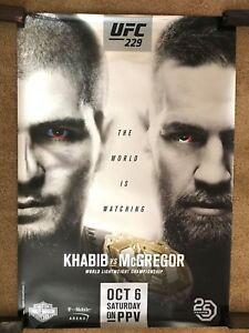 Official UFC 229 Khabib vs McGregor Metallic Poster 27x39 (Near Mint)