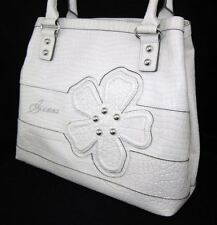 GUESS Kelsi Camelia Bag Purse Handbag Large Tote Sac White Blue Flower New