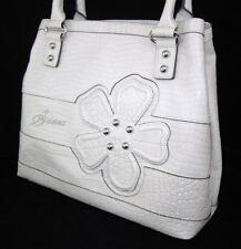 GUESS Kelsi Camelia Bag Purse Handbag Large Tote Sac White Blue Flower New