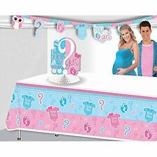 Gender Reveal Pink Blue Cute Baby Shower Party Supplies Decoration Tablecover