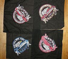 Lot 4 Collector Sturgis Vintage Black Handkerchiefs 1994 1997 1999 2001 Tom'S Ts