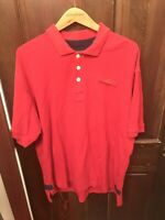 Orvis L Polo Mens Shirt Size Large Red Short Sleeve