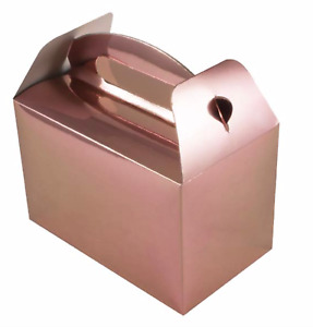 ROSE GOLD party gift boxes pack of 6 gift boxes