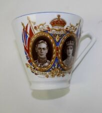KING GEORGE VI & QUEEN ELIZABETH 1936 CORNATION CUP, ENGLISH BONE CHINA, NICE