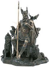 Allvater Odin Wodan Figur Hugin Munin Geri Freki Skulptur Gungnir 708-916