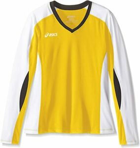 Asics Women's Roll Shot Jersey, Gold/White