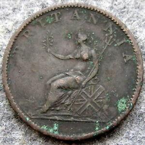 GREAT BRITAIN GEORGE III 1806 HALF 1/2 PENNY HALFPENNY