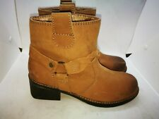 White Stuff brown faux leather ankle boots size uk 6