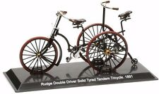Bicicletta Del Prado Rudge Double Driver Solid Tyred Tandem Tricycle 1891 Vélo