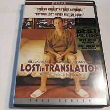Lost in Translation (Dvd, 2003, Full Screen, Drama) New & Sealed