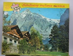 Vintage Tuco Picture Puzzle Hotel Adler Switzerland 350-400 Pieces Series 5980-L