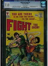 FIGHT THE ENEMY #1 CGC 7.0 1966 BLUE LABEL TOWER COMICS 1ST APP. LUCKY 7, MANLY