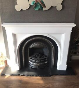 Plaster Fire Surround. Fireplace. Gothic Arch Design. £150. Delivery available