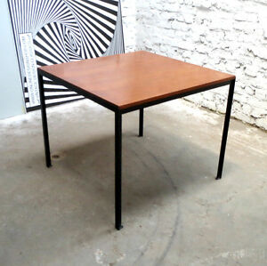 SQUARE FLORENCE KNOLL T-angle DINING TABLE A MANGER TISCH DE COENE BELGIUM 1950s