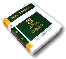 SERVICE MANUAL FOR JOHN DEERE 420 420C CRAWLER TRACTOR REPAIR SHOP OVERHAUL