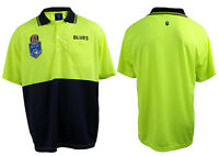 State of Origin NSW New South Wales Blues Short Sleeve Polo HI VIS Work Shirt
