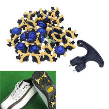 30×Shoe Spikes Champ Cleat Fast Twist Tri-Lok For Golf Sports Shoes+Removal Tool