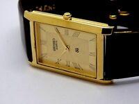 seiko quartz mens super slim golden dial japan made watch working order