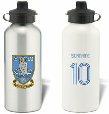 Personalised Sheffield Wednesday Retro Shirt Water Bottle - Free Delivery