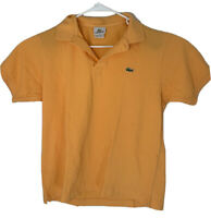 Lacoste Mens Regular Fit Polo Short Sleeve Shirt Size 4/Small Orange