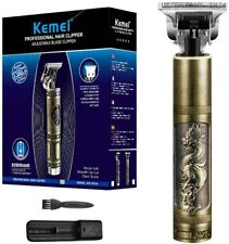 Kemei KM-1974 Carving Crafs Buddha Retro Cordless Trimmer T-shape Hair Clipper