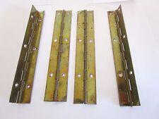 4 fiches à larder en métal doré-vintage 1970-antique iron door hinges-20è