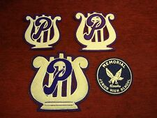 PHOENIXVILLE AREA HIGH SCHOOL 1950's - GRP.  OF 3 BAND PATCHES +MEMORIAL JR.