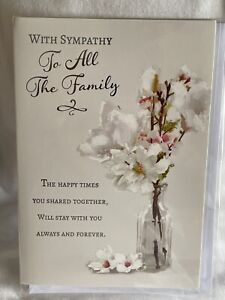 sympathy cards To All The Family / sympathy cards - 3 styles