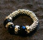 Silver & Black Steampunk Tones ~ Adjustable Fashion Ring ~ Gearpunk Finger Armor